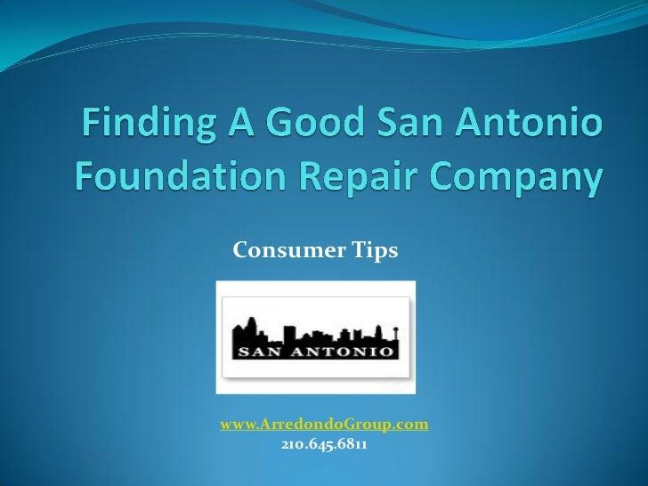 Consumer Tipswww.ArredondoGroup.com      210.645.6811