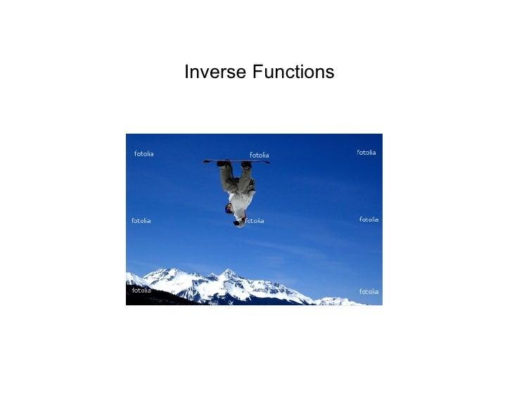 Jan. 6 Inverse Functions