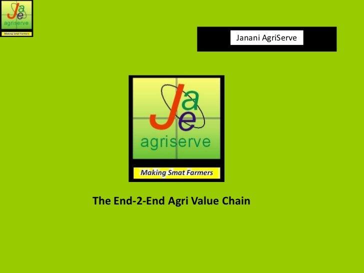 Janani AgriServeThe End-2-End Agri Value Chain