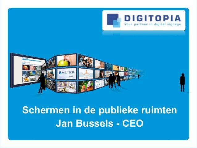 Schermen in de publieke ruimten Jan Bussels - CEO