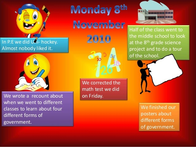 Our Week to Friday 12th November