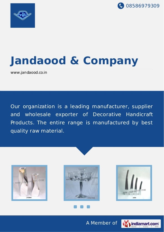 08586979309 A Member of Jandaood & Company www.jandaood.co.in Our organization is a leading manufacturer, supplier and who...
