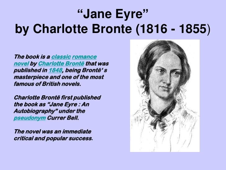 a character analysis of jane eyre from jane eyre by charlotte bronte Detailed analysis of characters in charlotte brontë's jane eyre learn all about how the characters in jane eyre such as jane eyre and edward rochester contribute to the story and how they fit into the plot.