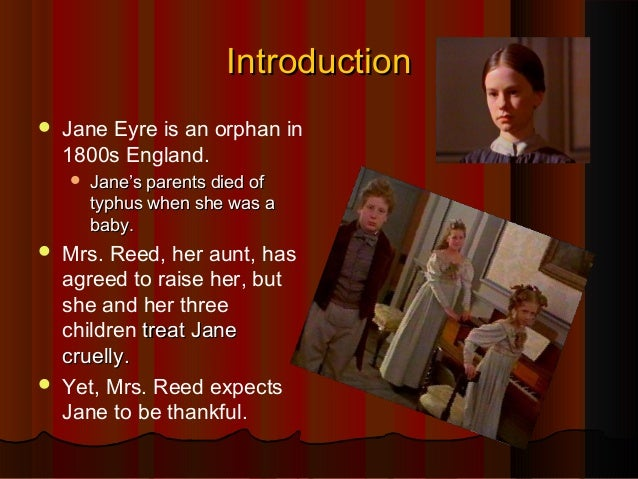 Jane eyre and the red room?