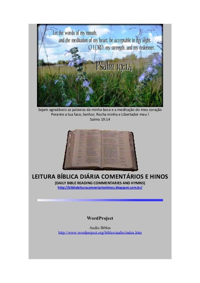 JANEIRO 2014 - LEITURA BÍBLICA DIÁRIA - (JANUARY 2014 - DAILY BIBLE READING)