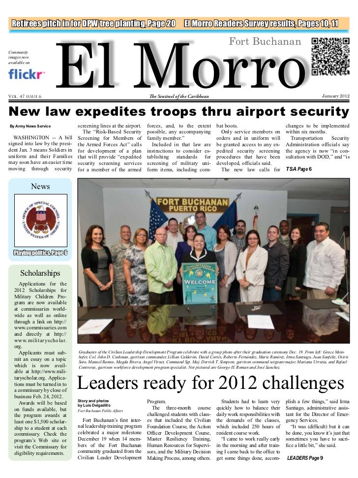El Morro Retirees pitch in for DPW tree planting, Page 20                                          El Morro Readers Survey...
