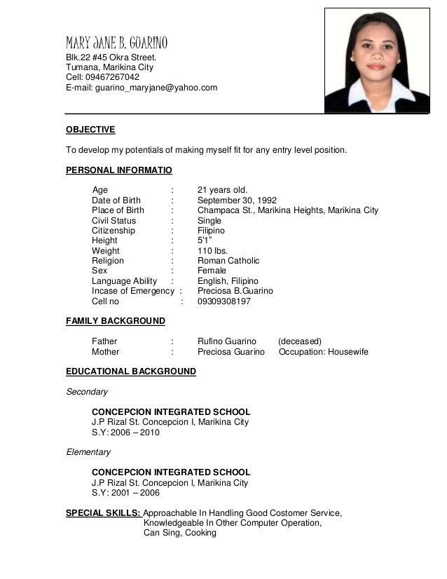 Jane Resume