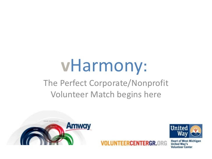 vHarmony:The Perfect Corporate/Nonprofit Volunteer Match begins here