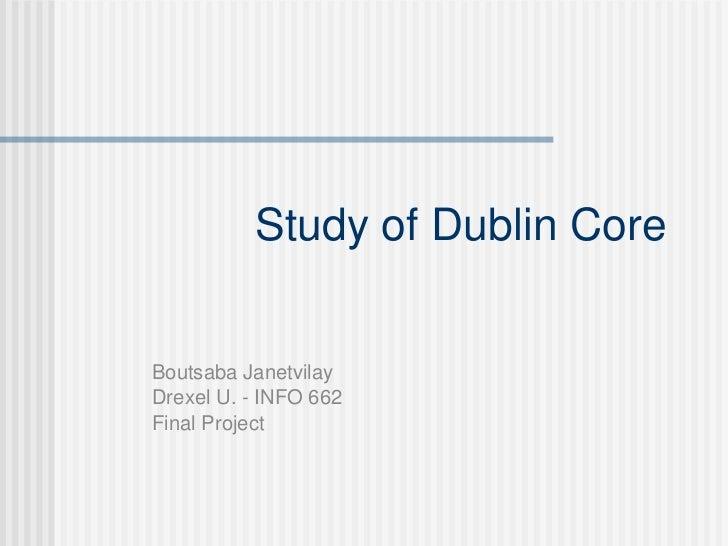 Janetvilay Dublin Core study