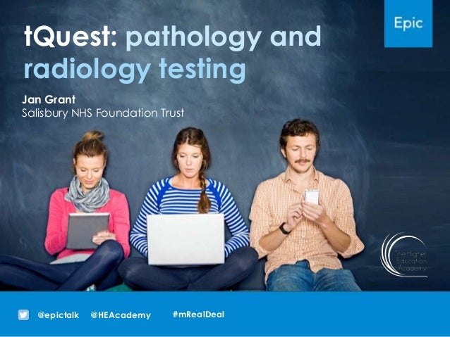 tQuest: pathology and radiology testing