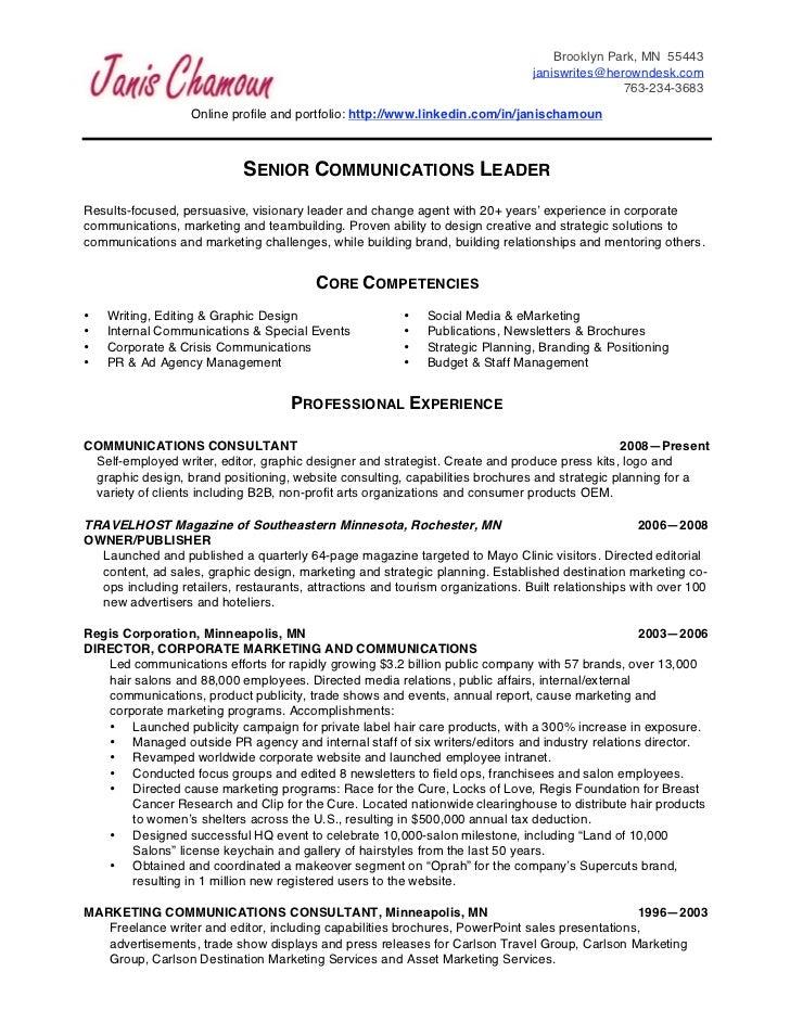 janis chamoun resume 3 27 11