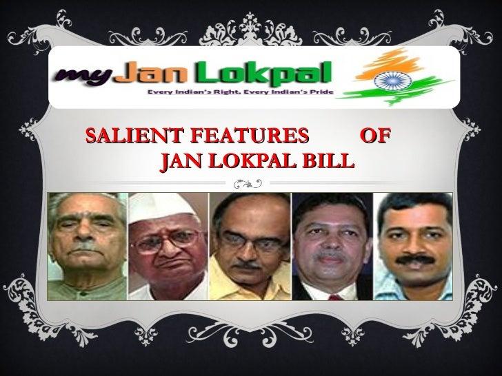SALIENT FEATURES  OF    JAN LOKPAL BILL