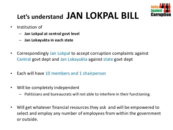 will lokpal bill remove corruption Lokpal bill to weed out corruption, boost investments: industry the lokpal bill would encourage investments and add to investor confidence it would help improve the climate for doing business in the country, said cii president kris gopalakrishnan.