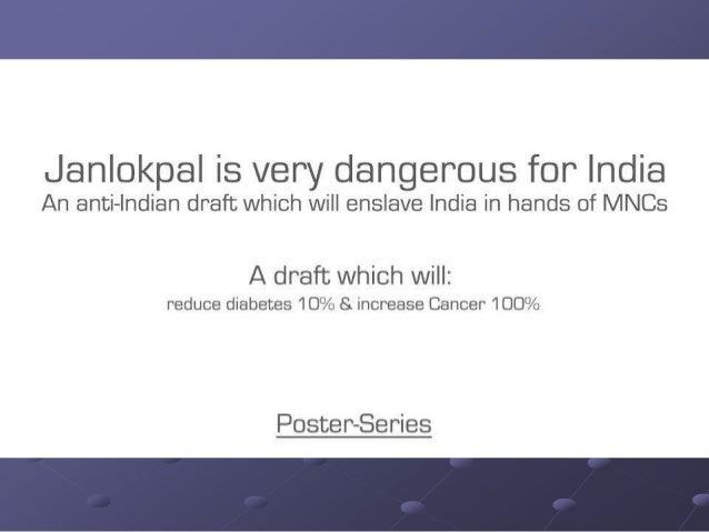 Is Janlokpal draft Dangerous for India?