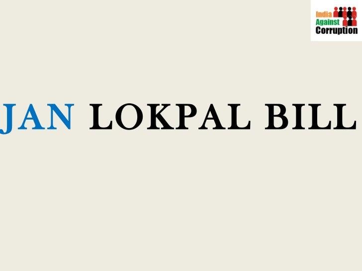 Jan Lokpal Presentation [English]