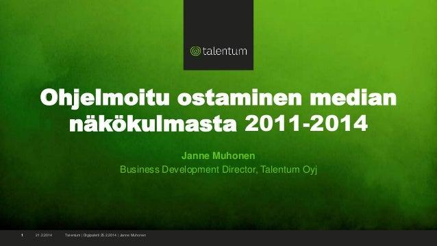 Janne Muhonen - Ohjelmoitu ostaminen median näkökulmasta