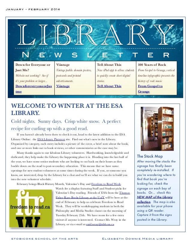 January February 2014 newsletter