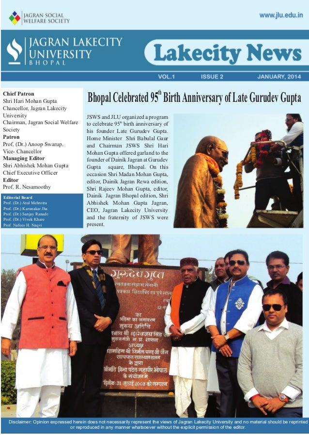 JLU Newsletter Jan 2014