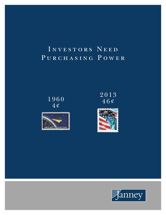 Investors Need Purchasing Power