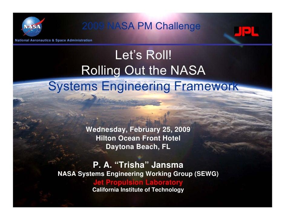 2009 NASA PM ChallengeNational Aeronautics & Space Administration                             Let's Roll!                 ...