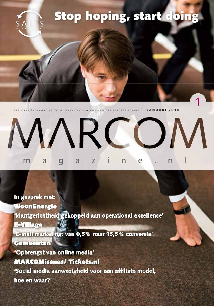 MARCOMmagazine Januari 2010