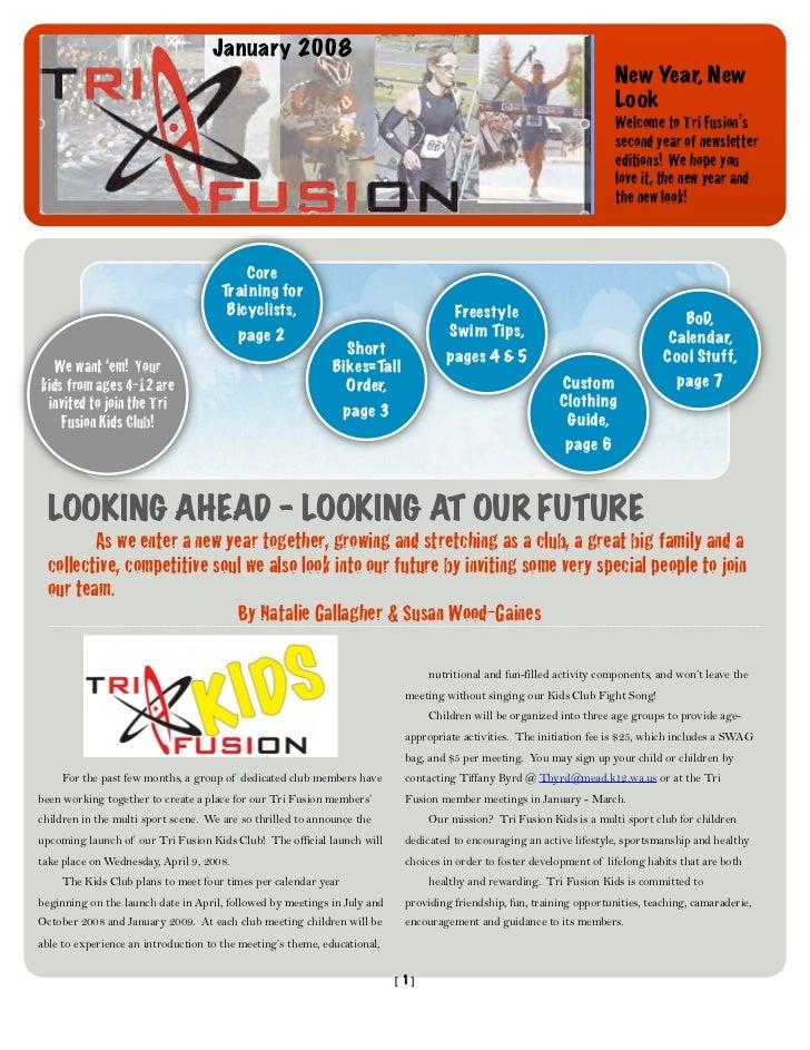 TriFusion Newsletter - Jan.'08