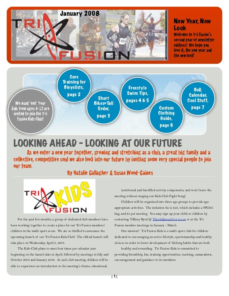 TriFusion Newsletter - Jan.'08