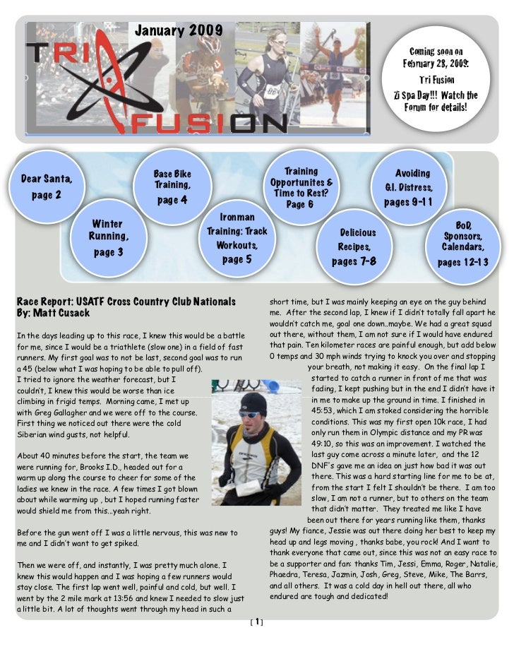 TriFusion Newsletter - Jan.'09