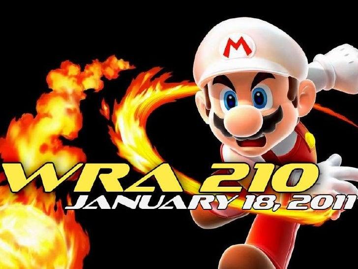 WRA 210 January 18, 2011