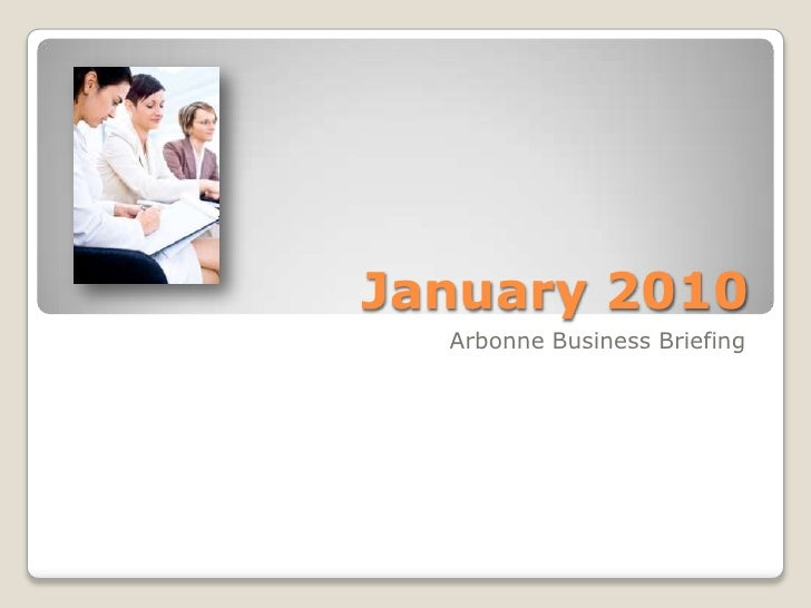 Arbonne Business Briefing January 2010
