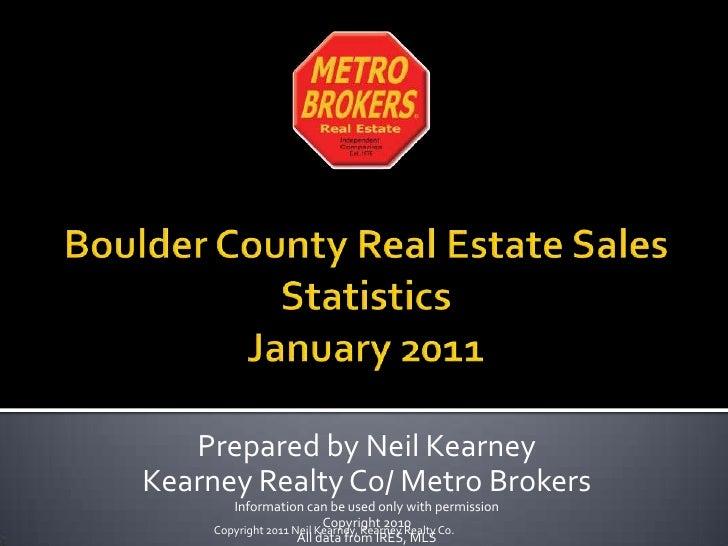 January 2011 Boulder County Real Estate Statistics