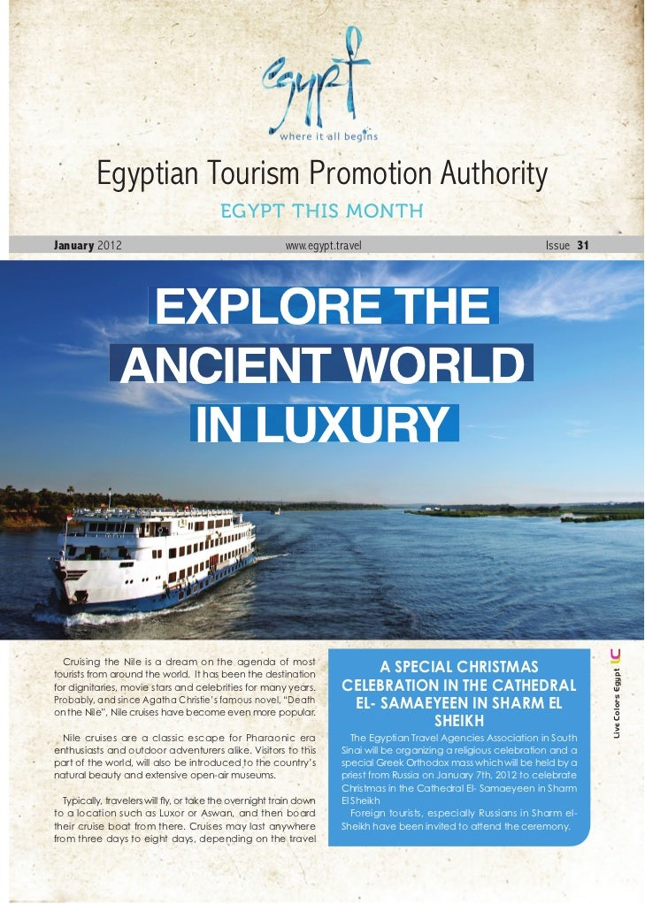 Egyptian Tourism Promotion Authority                                         EGYPT THIS MONTHJanuary 2012                 ...