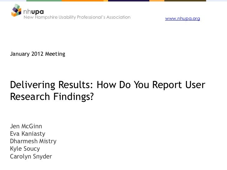 Delivering Results: How Do You Report User Research Findings?