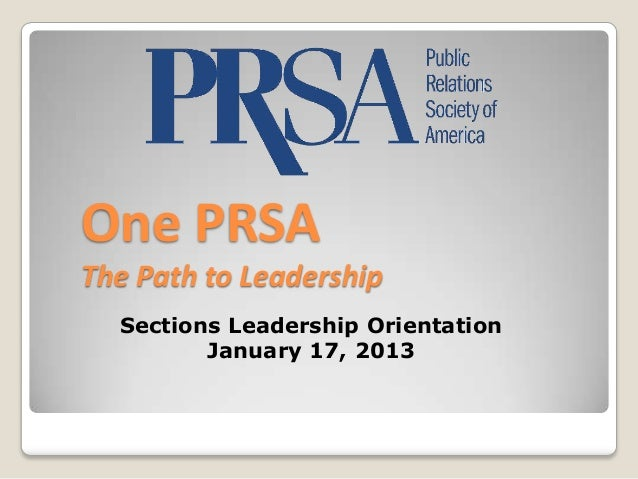 January 2013 section leader orientation