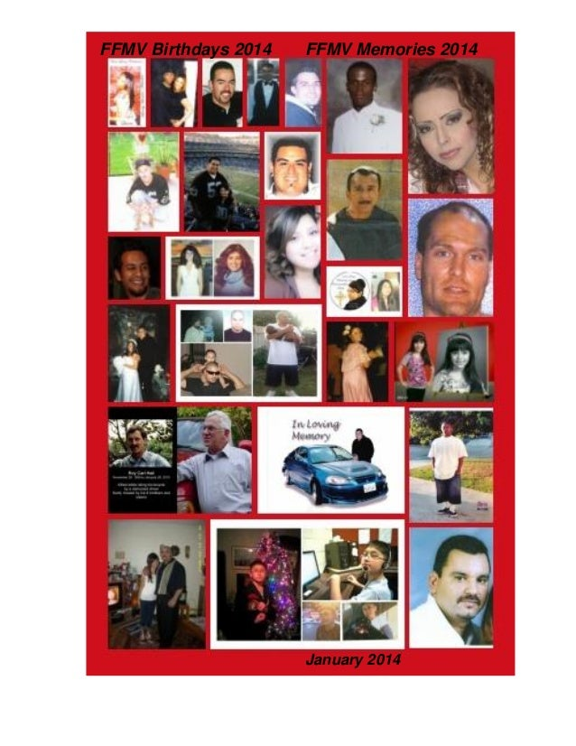 Families & Friends of Murder Victims January 2014 newsletter