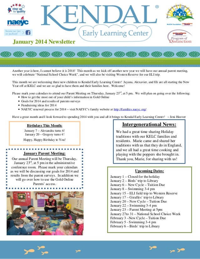 January 2014 Newsletter  Another year is here, I cannot believe it is 2014! This month as we kick off another new year we ...