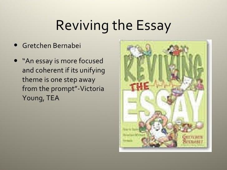 gretchen bernabei - reviving the essay