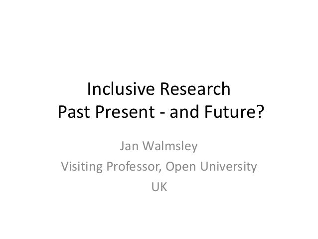 Jan Walmsley: Inclusive research in intellectual disability