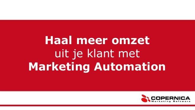 Haal meer omzet uit je klant met Marketing Automation