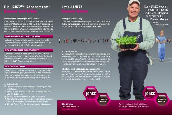 Janzz informationsflyer (agronomie)