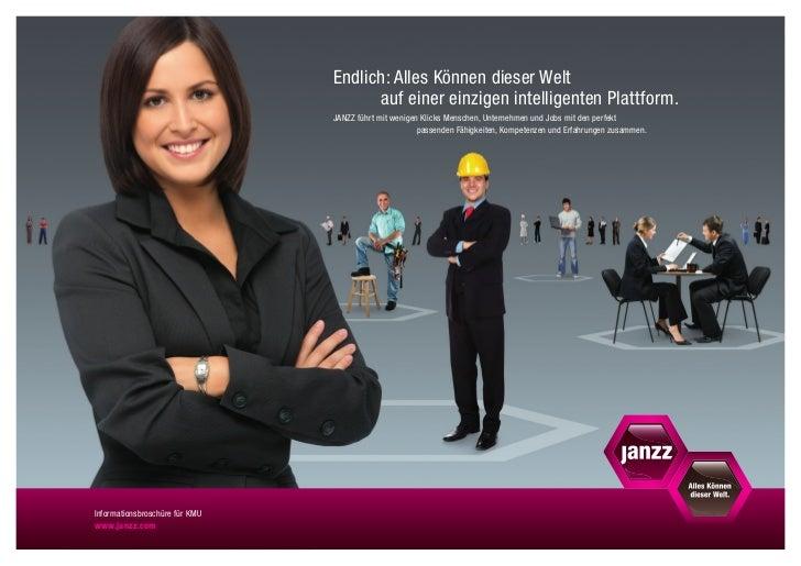 Janzz lnformationsbroschuere KMU