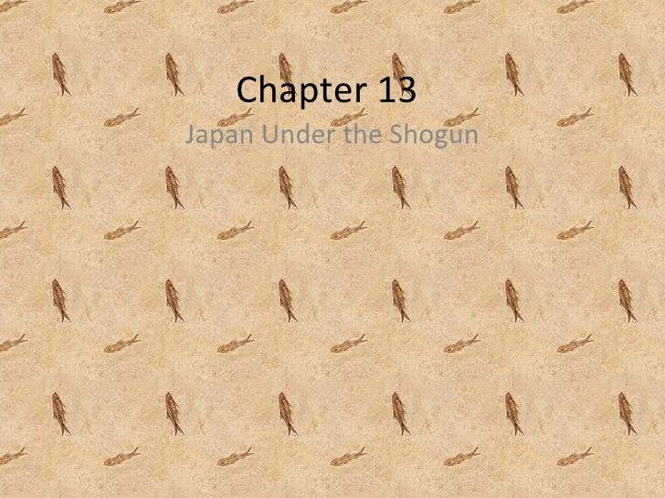 Japan chapter 13 blog notes