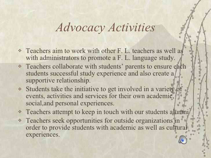 Advocacy of Japanese Lang program