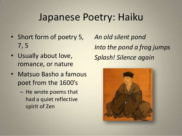 the development of haiku a japanese form of short poems