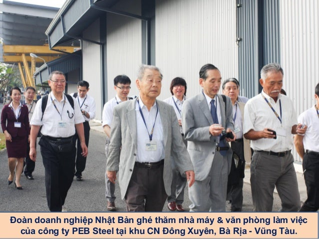 Japanese Business Group Visits PEB Steel Factories