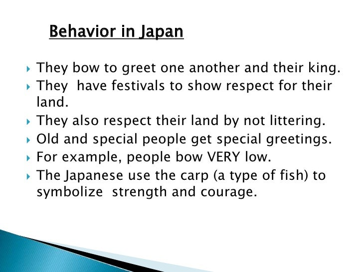 essay about japanese culture Essays from bookrags provide great ideas for culture of japan essays and paper topics like essay view this student essay about culture of japan.