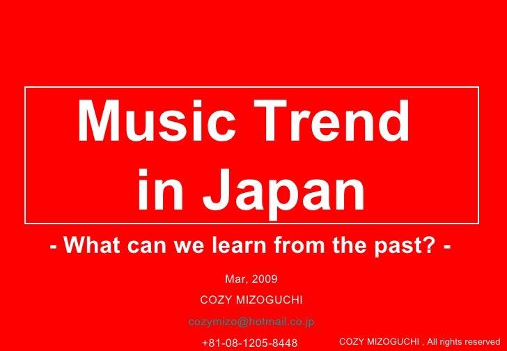 major trend in Japanese music market