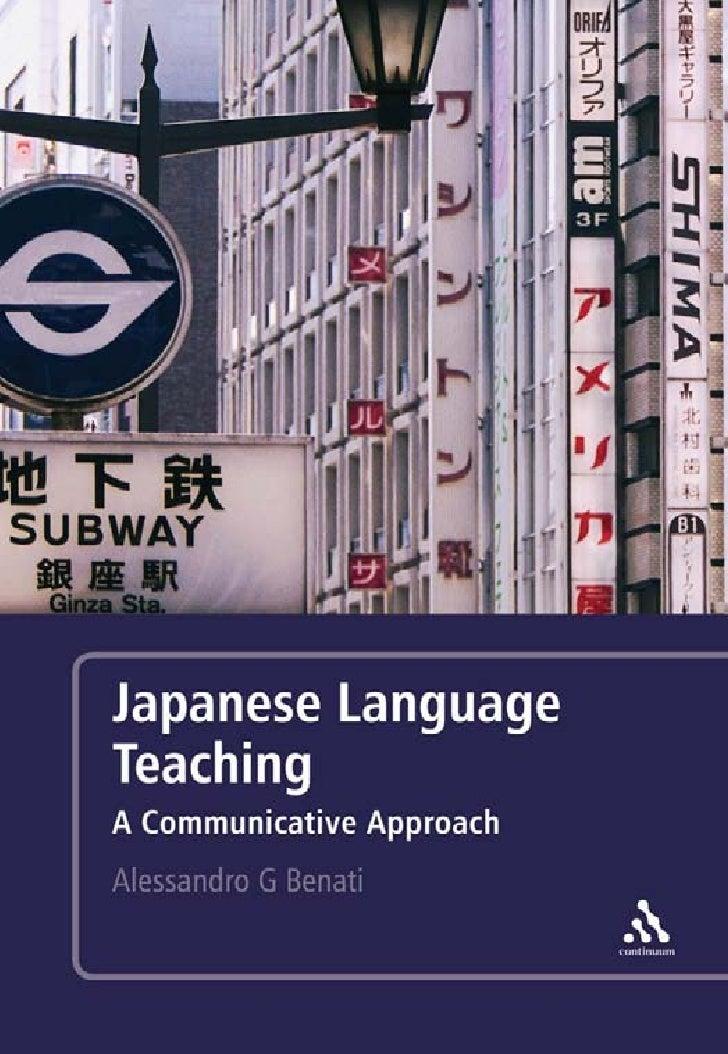 Japanese Language Teaching