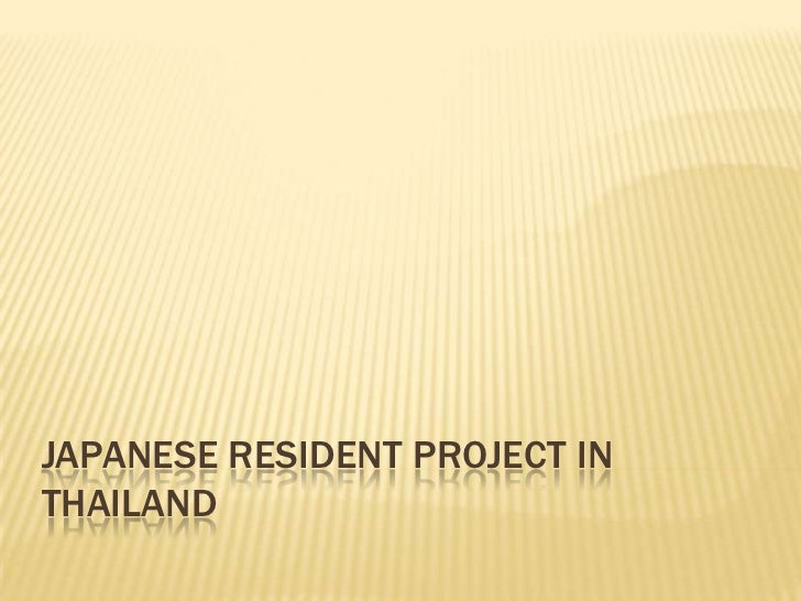 Japanese Resident Project In Thailand