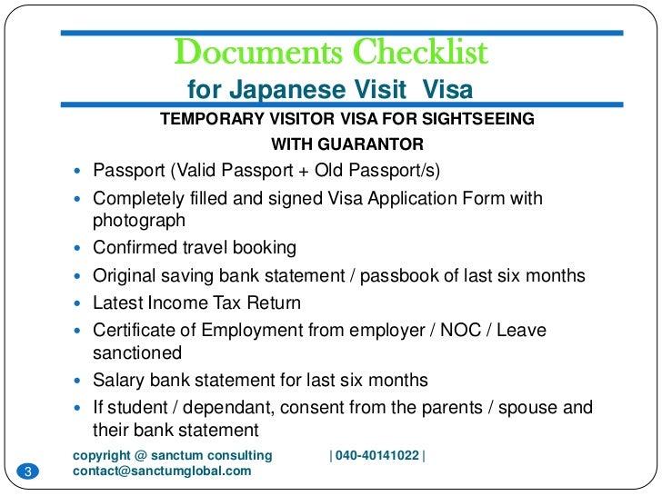 Image Gallery Japan Tourist Visa Requirements